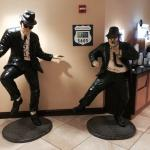 Blues Brothers in the lobby