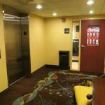 Clean and quiet elevators and vending area