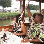 COUPLES ENJOY THE SCENERY FROM THE STAR CRUISER