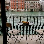 balcony over looking grand canal in bar