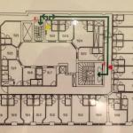 The floor plan - to show the variation in room shape and size