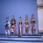 The main cast in traditional costumes