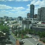View from room, Queen Vic Market on the left