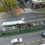 View of tram & stop (outside hotel) from room 508