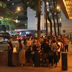 Hundreds of mainland Chinese from buses staying at hotel