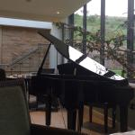 Lovely piano at buffet breakfast