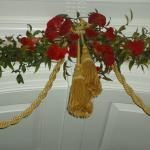 Garland over doorway