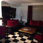 The lounge area in my 1 Bedroom Suite at the Michelangelo Hotel NY. When I walked in, I was plea