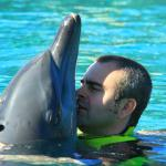 Kissing the Dolphin at Dolphin Bay