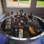 View from the Palace dining rooms - selection of aquavite