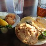 fish bites and stuffed quahog (and remains of the first IPA)