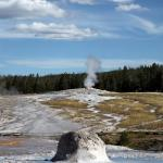 Old Faithful and Beehive Geyser