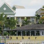 Sabor restaurant and Pelican Bay seen from marina