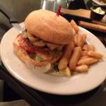 Mushroom and Swiss cheese burger - delicious!