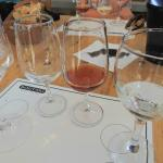 Wine tasting at the first winery