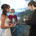 the private deck is a wonderful place for small weddings