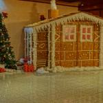 Christmas display in reception