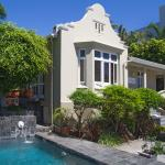 front of house with pool