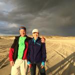 Jan and I under the rainbow before the squall