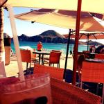 View from beach side restaurant