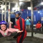 Ella's first indoor sky diving trip