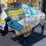 Decorated Bison In Front Of 4 W Western Store