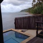 The private pool in the VIP villa and view