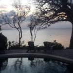 View from pool and deck - sunset
