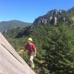 Acadia Mountain Guides owner / IFMGA guide Jon Tierney recently led a guide training program at