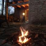 Back of Sienna Cottage with our firepit