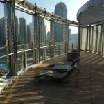 Private deck/balcony overlooking Dubai fountain
