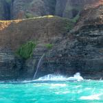 Waterfall into the ocean