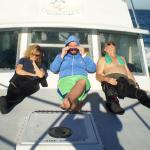 The three of us relaxing after a dive on the Ocean Divers boat