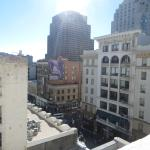 View down Powell Street from 1 of our 3 windows