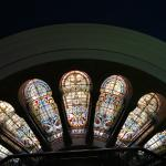 Stained glass at the QVB.