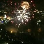 Fireworks view from room