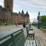 This is the Terrasse during a quiet day. Chateau Frontenac in the back.