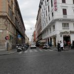 Via Marghera from Entrance of Roma Termini hotel about 50 metres on right
