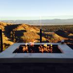 Firepit overlooking valley