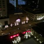 Michigan Avenue at night from the room