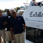Excellence boat tours got us there.