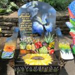 Artwork on a chair by Charlotte Condie