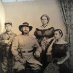 This is a picture taken from my cell phone of our wet plate picture.  It looks better in person.
