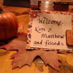 They welcomed us with this cute fall card :)