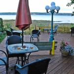 backyard deck overlooking the Saint Lawrence River