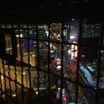 Shows the location of Mandalay Bay from the Paris Hotel & Casino Eiffel Tower.