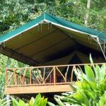 "Our wonderful ""glamping"" tent"