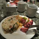 Brunch buffet.  Omeletts made to order.