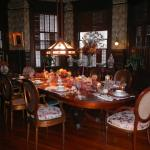 Main dining room (set for Thanksgiving Dinner)
