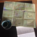 Greeted with tea and a map for planning
